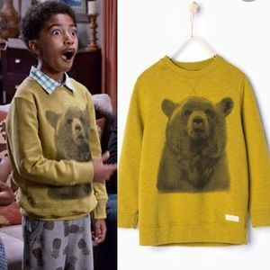 Zara Boys Yellow Bear Sweatshirt From Blackish